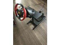 Ferrari 458 Spider steering wheel with pedals and stand
