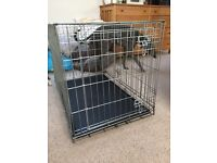 Dog crate medium sized with accessories