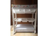 Baby Changing Table with bath and shelving