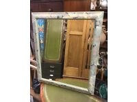 Hand painted, Cheval mirror