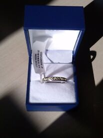 BNWT 9 ct White gold Band ring reduced price!