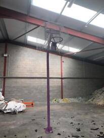 Basketball post and hoop