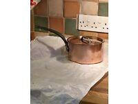 Mauviel copper 18cm saucepan