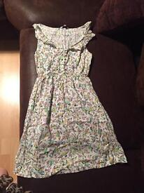 Bird print dress new look size 8
