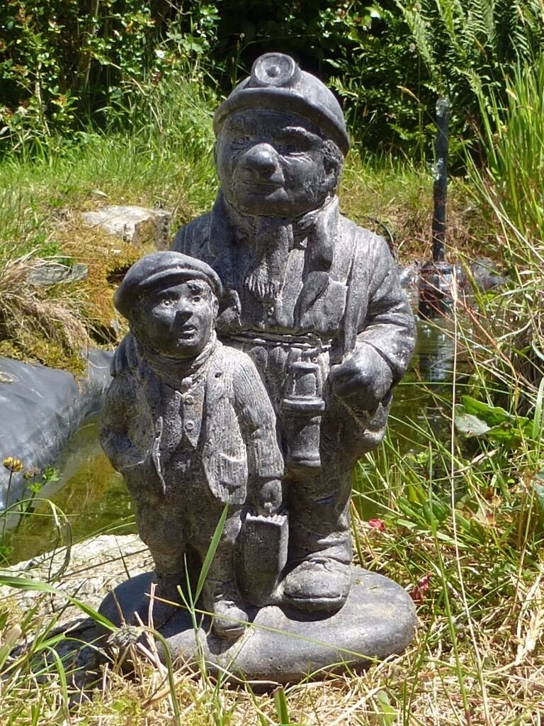 Charming Cornish Tin Miner Garden Statue Garden Ornament Coal Minerin Redruth, CornwallGumtree - Nice charming Cornish Tin Miner farther & son garden statue garden ornament, made from cast concrete 28cm tall 15cm long 11cm depth in very good displayed condition Please study all the images to get a better idea of the style & condition of the...