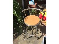 TWO FREE HIGH CHAIRS BAR STOOL
