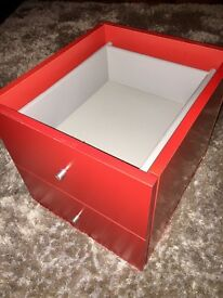 Ikea Kallax / Expedit drawer insert red x 2