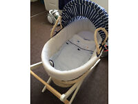 Bassinet and Stand - Mothercare - Whale Design