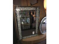Luxury crushed diamond mirrors