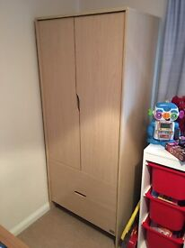 Children's wardrobe and drawer set by Kub. Excellent condition and great price to sell quickly.