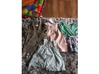 Baby girls clothes. Size 3-6 months. Mixture of dresses, cardigans, tops and leggings