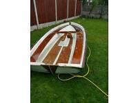 Fishing boat wood deck