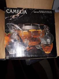 Punch Bowl & Glasses