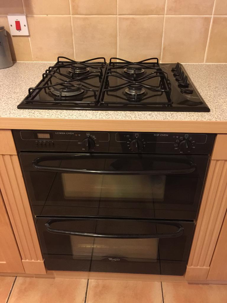 Whirlpool hob and double oven/grill