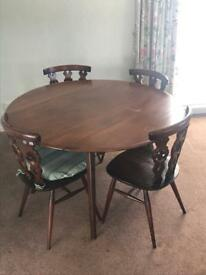 Priory oak table and chairs