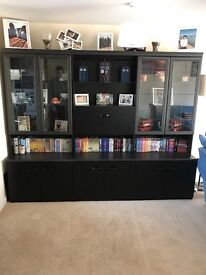 Black wall unit for sale,good condition,lights as well