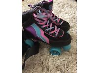 Bright Funky Quad Skates with matching bag