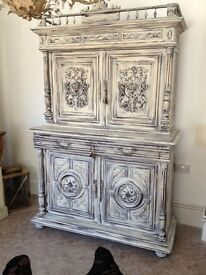 Henry II buffet cabinet cupboard antique super condition solid oak