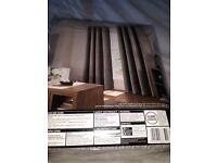 Brand new Grey chenille curtains 66 x 72""