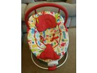 Red kite vibrating baby bouncer