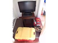 Free tv table toys and chest
