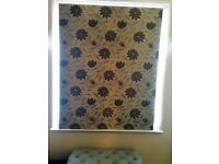 High end fabric roller blind / John Lewis type in excellent condition Silver grey modern rollr blind