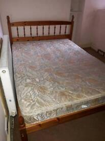 Pine Double bed with/without mattress