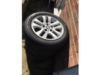 4 x bmw e90 wheels in great condition with as new Goodyear tyres