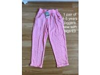 4-5 years girls joggers new