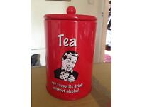 Set of 3 retro style canisters (Tea, Coffee and Sugar)