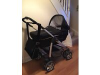 Silvercross sleepover travel system with all accessories including car seat.