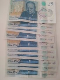 5 pounds notes