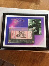 Elvis Presley Unused Ticket