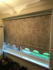3 matching roller blinds.....1 x 47 & half wide and the other 2 are 69inch wide