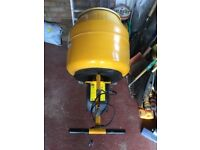 Nearly new Belle 130 electric 230 V concrete mixer .