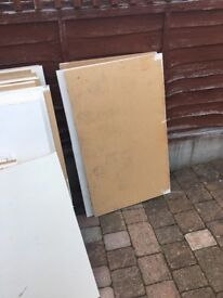 "Free MDF used 23""x 38 (15 pieces) and 23""x 30""(6 pieces) . Need to be collected ASAP if wanted."