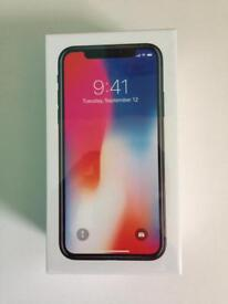 Brand New Apple iPhone X 256GB, Space Grey, 02 Network.