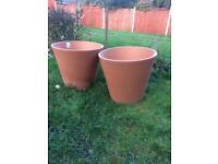 Terracotta garden plant pots 60cm