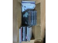 box of 57 misc jewel cases (used) - free