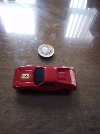 Ferrari die cast toy sports car.
