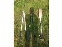 Garden tools Long armed garden Lawn edging Shears Spade Used