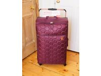 Lightweight 4-wheel suitcase by Linea (Aubergine, Large)