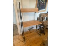 Modern wood and metal desk - industrial style
