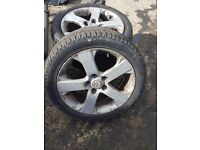 205 ×50 ×17 TYRES WITH ALLOY RIM