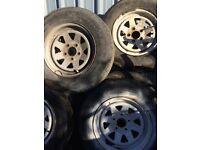 Weller style 8 spoke steel wheels