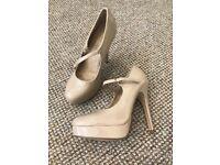 New Look Beige High Heels Size 4