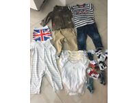 Various baby boys clothes from Next, Ted Baker, Mothercare 9 - 12 months