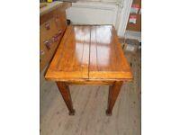 Folding oak table
