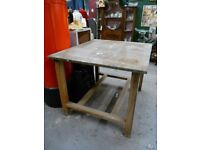 Vintage School Science Table Kitchen Island Breakfast Bar Industrial Work Bench