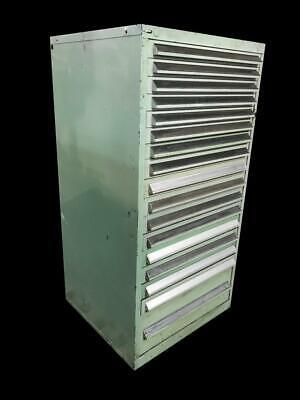 Stanley Vidmar 17 Drawer Industrial Tool Cabinet 30 X 27.5 X 59